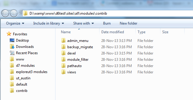 Create directory for installaing modules